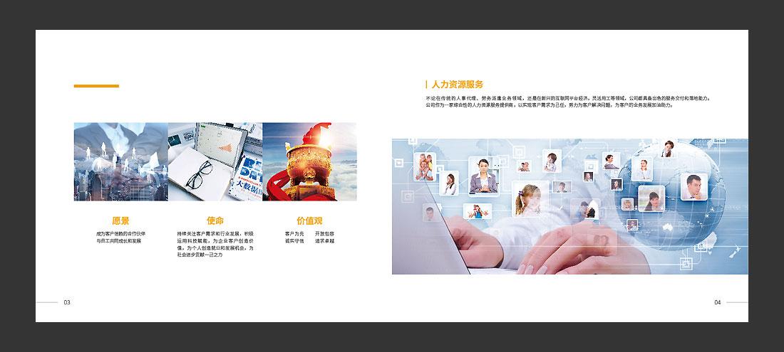 北京万古人力资源公司宣传册,精装画册亿博国际专线投注-4